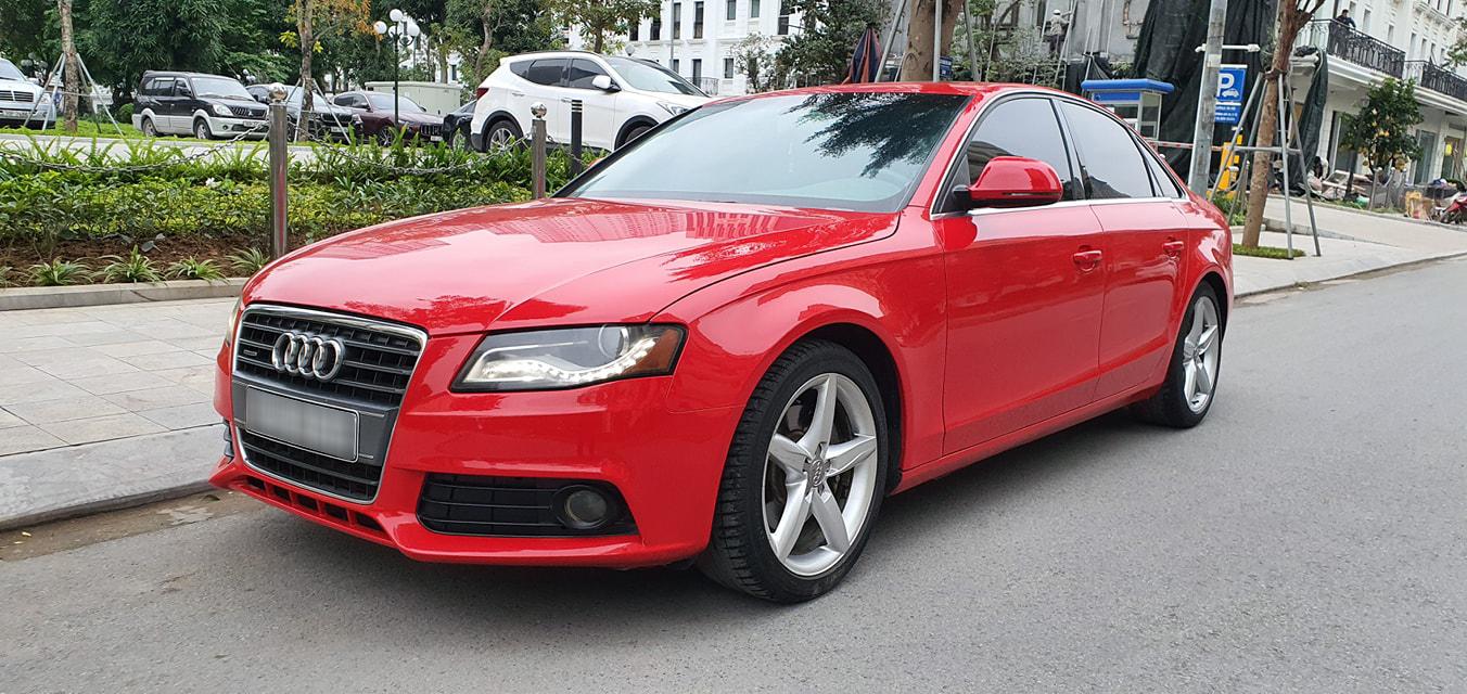 Audi A4 2.0T sau hơn 10 năm sử dụng được giao bán giá rẻ hơn Vios sô sàn