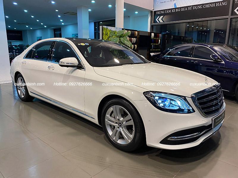 Mercedes-Benz S450L cũ mầu trắng, xe đăng kí 2019 chạy hơn 7000km giá công khai 3ty768