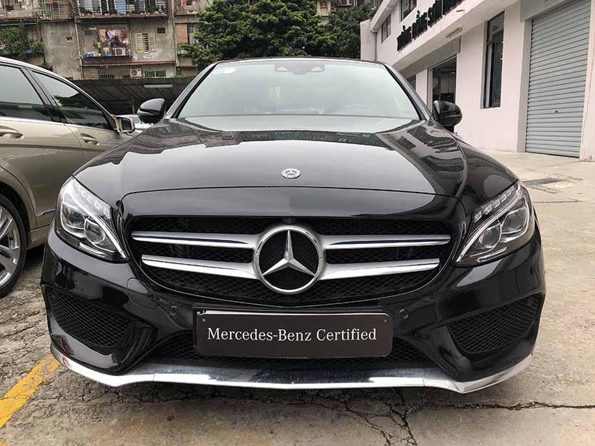 Xe Mercedes C300 cũ đời 2018 màu Đen chạy 8566 Km như mới giá rẻ
