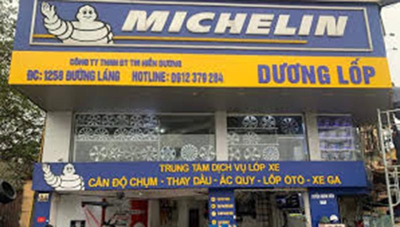 Trung tâm dịch vụ lốp xe ô tô Michelin Hiền Dương
